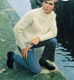 Mans Aran Sweater: Knitting Pattern PDF Downloadable | Etsy Aran Sweaters, Sweater Knitting Patterns, Vintage Patterns, Men Sweater, Crew Neck, Pdf, Pullover, Etsy, Fashion