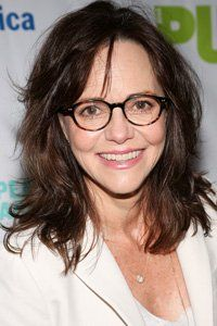 <center>Add in layers or try some natural-looking extensions to give you more length. Longer hair can slim your jawline –  we love Sally Field's fab look.