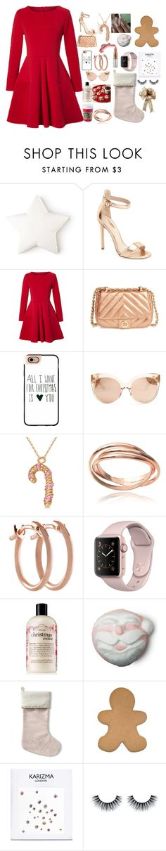 """~Santa Tell Me~"" by adele-ioannou ❤ liked on Polyvore featuring Topshop, WithChic, BP., Casetify, Linda Farrow, Allurez, Journee Collection, Pori, philosophy and Mariah Carey"