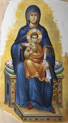 Religious Icons, Religious Art, Church Icon, Blessed Mother Mary, Byzantine Icons, St Anne, Orthodox Icons, Russian Art, Virgin Mary