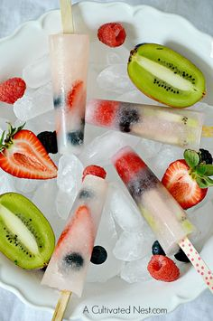 Easy Healthy Fruit Popsicles | A Cutivated Nest