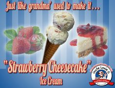 """Strawberry Cheesecake"" ice cream - just like grandma' used to make it! #icecream #grandma #grandmom #strawberry #cheesecake #strawberrycheesecake #yum"