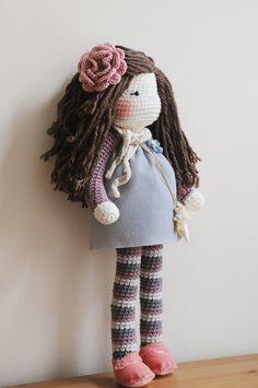 Crochet Doll over 2 feet tall Ready to Ship by LinaMarieDolls