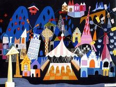 "Mary Blair - designs for ""It's a Small World"""