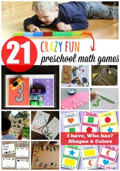 Help kids build a strong foundation of skills with these 21 awesomepreschool math games.The listincludes fun ways tolearn shapes counting number writing measuring andmore. These playful activities are perfect for math centers and make learning fun! Kindergarten Math Games, Math Games For Kids, Preschool Learning, Math Activities, Preschool Activities, Kids Math, Preschool Education, Teaching Math, Playdough To Plato