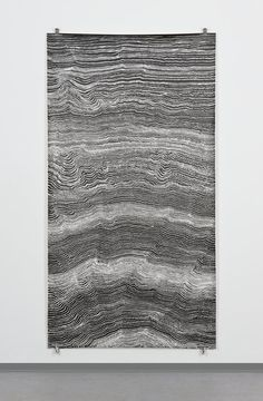 Sophie Tottie. Written Language (line drawings) XVI; pigmented ink on paper, 216 x 113 cm. 2009.