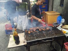 Ayam Bakar (roasted chicken) Ganthari. Jl Mahakam. South Jakarta.
