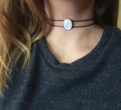 Opal choker Opalite choker moonstone choker crystal by arthemisa