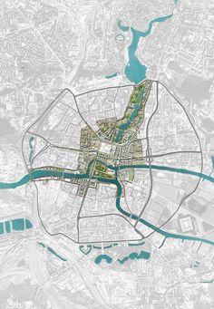 Kaliningrad city centre redevelopment strategy on Behance Site Analysis Architecture, Architecture Mapping, Landscape Architecture Design, Architecture Graphics, Architecture Diagrams, Landscape Designs, Architecture Portfolio, Urban Design Concept, Urban Design Diagram