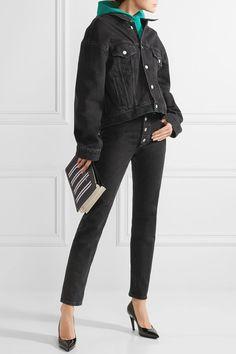 BALENCIAGA stylish Tube high-rise straight-leg jeans