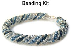 Beading Kit and Pattern Twinkling Twirl by SimpleBeadKits on Etsy