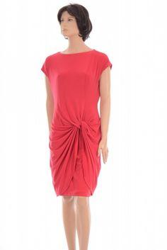 Lauren Ralph Lauren  Red Drapey Matte Jersey Cocktail Dress