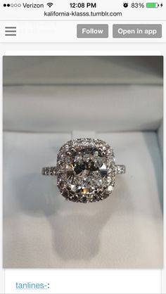 Gorgeous engagement ring #need #love #obsessed
