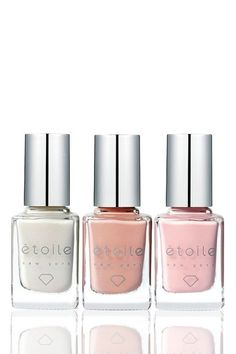 Etoile: Diamond-Infused Nail Polish - pretty bridal set made from real diamonds! Talk about luxe.