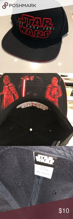 save off 893f3 fc09f Star Wars Last Jedi SnapBack cap Star Wars fans! Never worn Star Wars last  Jedi SnapBack! Kylo Ren under the bill Accessories Hats
