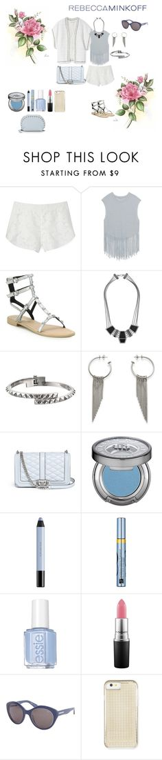 """""""Rebecca Minkoff"""" by southindianmakeup1990 ❤ liked on Polyvore featuring Rebecca Minkoff, Urban Decay, shu uemura, Estée Lauder, Essie, MAC Cosmetics, women's clothing, women, female and woman"""