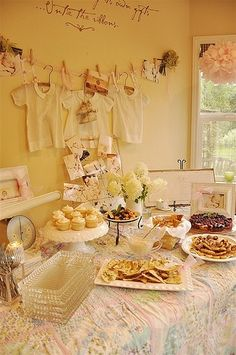 Cute vintage baby girl shower by jody