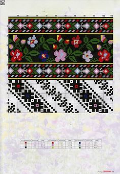 Beading _ Pattern - Motif / Earrings / Band ___ Square Sttich or Bead Loomwork ___ irinask. Cross Stitch Borders, Cross Stitch Patterns, Beading Patterns, Embroidery Patterns, Palestinian Embroidery, Halloween Cross Stitches, Pattern Art, Needlepoint, Diy And Crafts
