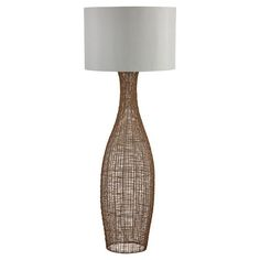 Searchlight Weave Rattan Floor Lamp Base Only