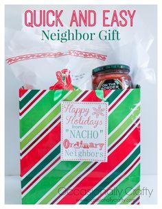 Occasionally Crafty: Neighbor Gift Blog Hop : Chips and Salsa + Printable Tags