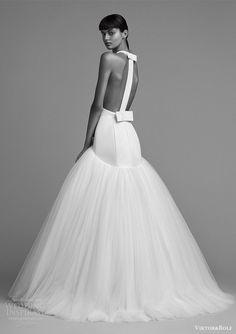 viktor and rolf fall 2018 bridal sleeveless back drop waist ball gown wedding dress (3) bv modern -- Viktor