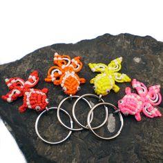 Small Macrame Fish Key Chain Knotted Goldfish Key by LanesEndKnots