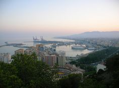 The city from Gibralfaro (Málaga, Spain)