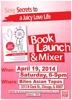 Sexy Secrets to a Juicy Love Life Book Launch! #Love #Life #book