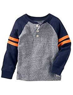 Kosh Boys Sleeve Raglan Henley. ** More info could be found at the image url. (This is an affiliate link)