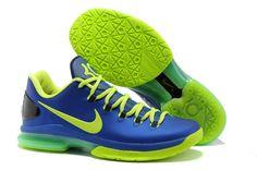 Nike KD V Elite 585386-400 Hyper Blue Volt-Blackened Blue