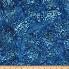 Michael Miller Batik Sea Turtles Navy from @fabricdotcom  Designed for Michael Miller Fabrics, this Indonesian batik is perfect for quilting, apparel and home décor accents. Colors include shades of blue.