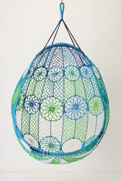Knotted Melati Hanging Chair from Anthropologie. This would be awesome in my room!!