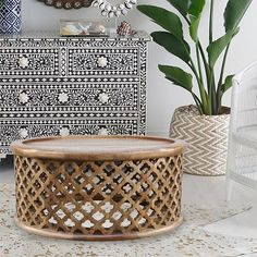 JUST ARRIVED | A new range of Coffee & Side tables have just arrived at Zohi.  Our new Moroccan Carved Bamileke Tables are the perfect exotic luxe piece for your living room. Inspired by the traditional Bamileke Table with a special moroccan touch.  2 colours & sizes available. Link in bio x