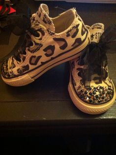 Ahh! My little girl will have these cheetah chuck taylors