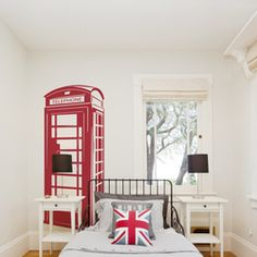 London Phone Booth Wall Decal - Wallums.com