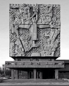 House of Political Education, (now Turkmen State Archive) Ashgabat, Turkmenistan, built between 1970-75 Architect: Vadim Klivensky, Dagmara Vysotskaya Sculpture by Ernst Neizvestny. (c)Goetz Burggraf