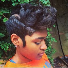 That Cut! - http://www.blackhairinformation.com/community/hairstyle-gallery/relaxed-hairstyles/cut/ #relaxedhairstyles