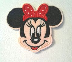 Minnie Mouse Lover Magnet - Minnie Mouse W/Red Bow - Disney Frig,Lockers Decor…