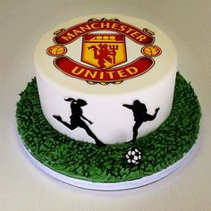 Manchester United Cake | Grooms Cake | Soccer | Hands on Sweets Tampa, Florida