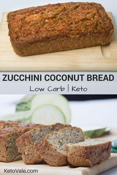 Keto Coconut Zucchini Bread
