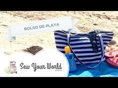 Tutorial: bolso playero con bolsillos y forro. - YouTube
