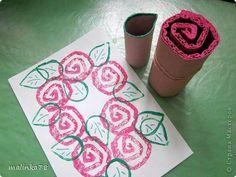 estampación rosas