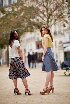 Wax Touch Collection Maison Mixmelô FW 18 #fashion #frenchstyle #waxprint #womensfashion #mixandmatch #slowfashion #ethicalfashion #africanfashion Midi Skirt, Wax, Touch, Collection, Skirts, Vintage, Style, Fashion, Fashion Ideas