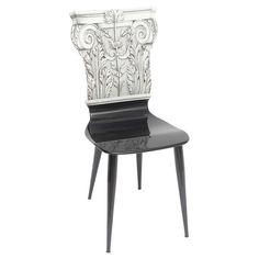 """Fornasetti """"Capitello Corinzio"""" Side Chair"""