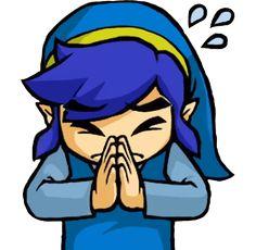 Blue Link imploring fom the official artwork set for the Tri Force Heroes #TFH #TLoZ #Zelda http://www.zelda-temple.net/