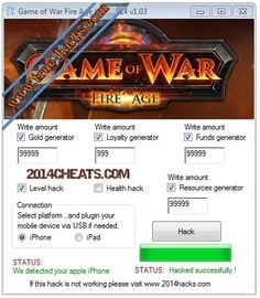 Game of War: Fire Age Hack 2014