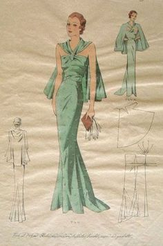 New EvaDress 744 | Created from original 1930's pattern artwork that was never produced | $20 online