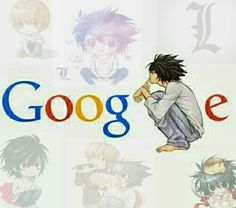 Imagem de L, death note, and google