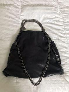 fc49915282cd Details about GORGEOUS RARE- Blue Black Stella McCartney Large Shaggy Deer  Falabella Tote Bag