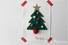 Tarjeta de Navidad reciclada DIY / Recycled DIY Christmas card